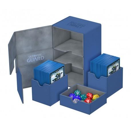 boîte pour cartes Twin Flip´n´Tray Deck Case 160+ taille standard XenoSkin Bleu