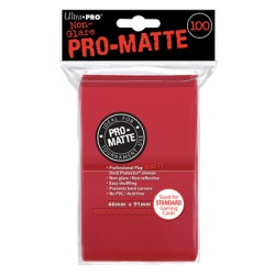 ULTRA PRO sleeves Matte Standard (rouge) 66X91