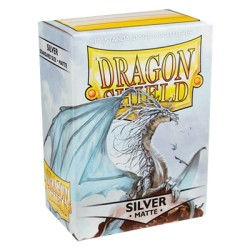 DRAGON SHIELD MATTE silver - 100 Sleeves