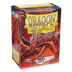 DRAGON SHIELD MATTE red - 100 Sleeves