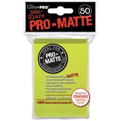 ULTRA PRO 50 sleeves Matte Standard (jaune citron) 66X91