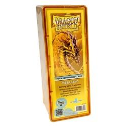 Dragon Shield Box 4 Compartments - Jaune