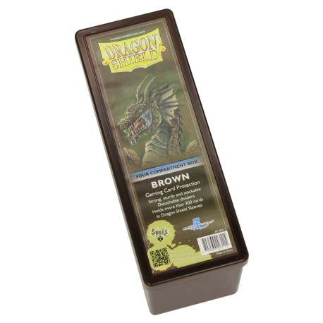 Dragon Shield Box 4 Compartments - marron