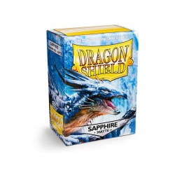 DRAGON SHIELD MATTE sapphire - 100 Sleeves