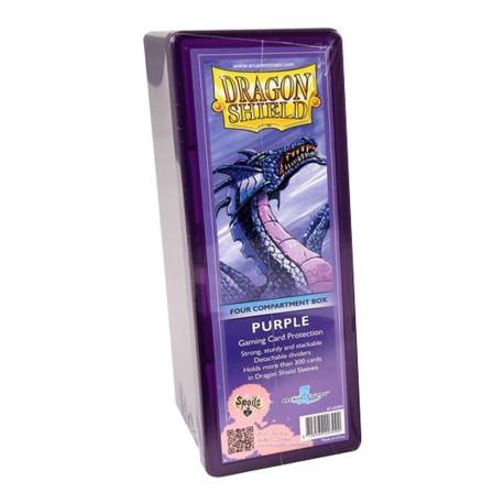 Dragon Shield Box 4 Compartments - purple