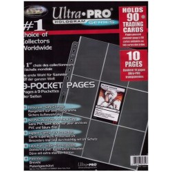 ULTRA PRO : 10 FEUILLES CLASSEUR 9 CARTES LUXE