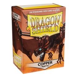 DRAGON SHIELD MATTE copper - 100 Sleeves