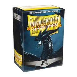 Dragon Shield MATTE - Jet - 100 Sleeves