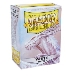 Dragon Shield MATTE - White - 100 Sleeves