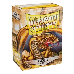 Dragon Shield MATTE - Gold - 100 Sleeves