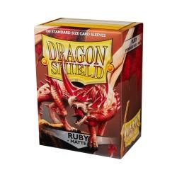 DRAGON SHIELD MATTE ruby - 100 Sleeves