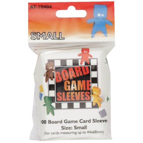 Board Game Sleeves - Clear Small fits cards 44x68 mm
