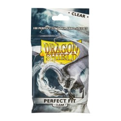 100 Dragon Shield Perfect Fit : Clear/Clear