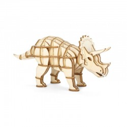 3D WOODEN PUZZLE TRICERATOPS